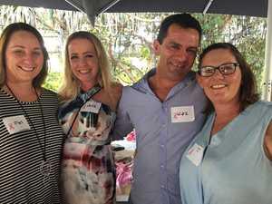 CANCER FUNDRAISER: Mel Cooksey, Julz Nicholls and Waz