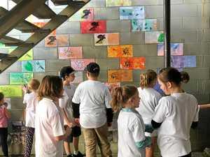 GALLERY: Children show off their vibrant laneway art