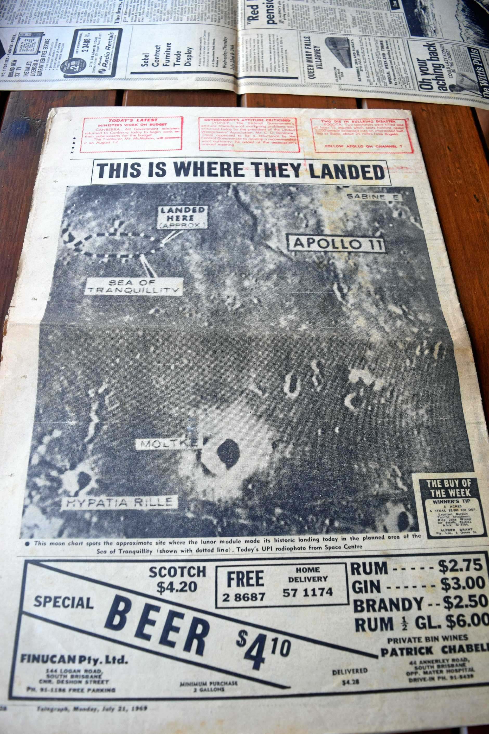 While pictures were of low quality, people snapped up copies of the paper to see the surface of the moon for the first time.