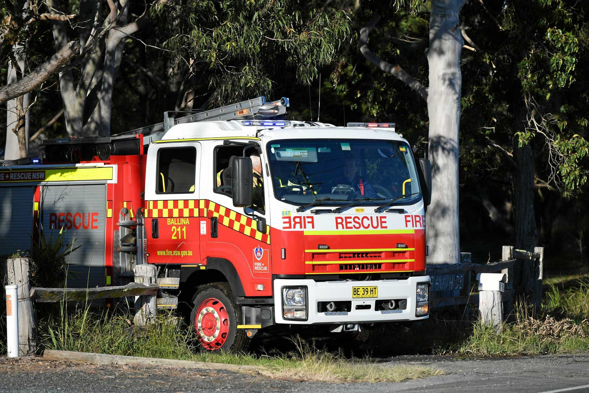 Emergency services were called to a house on Ross Lane in Lennox Head.