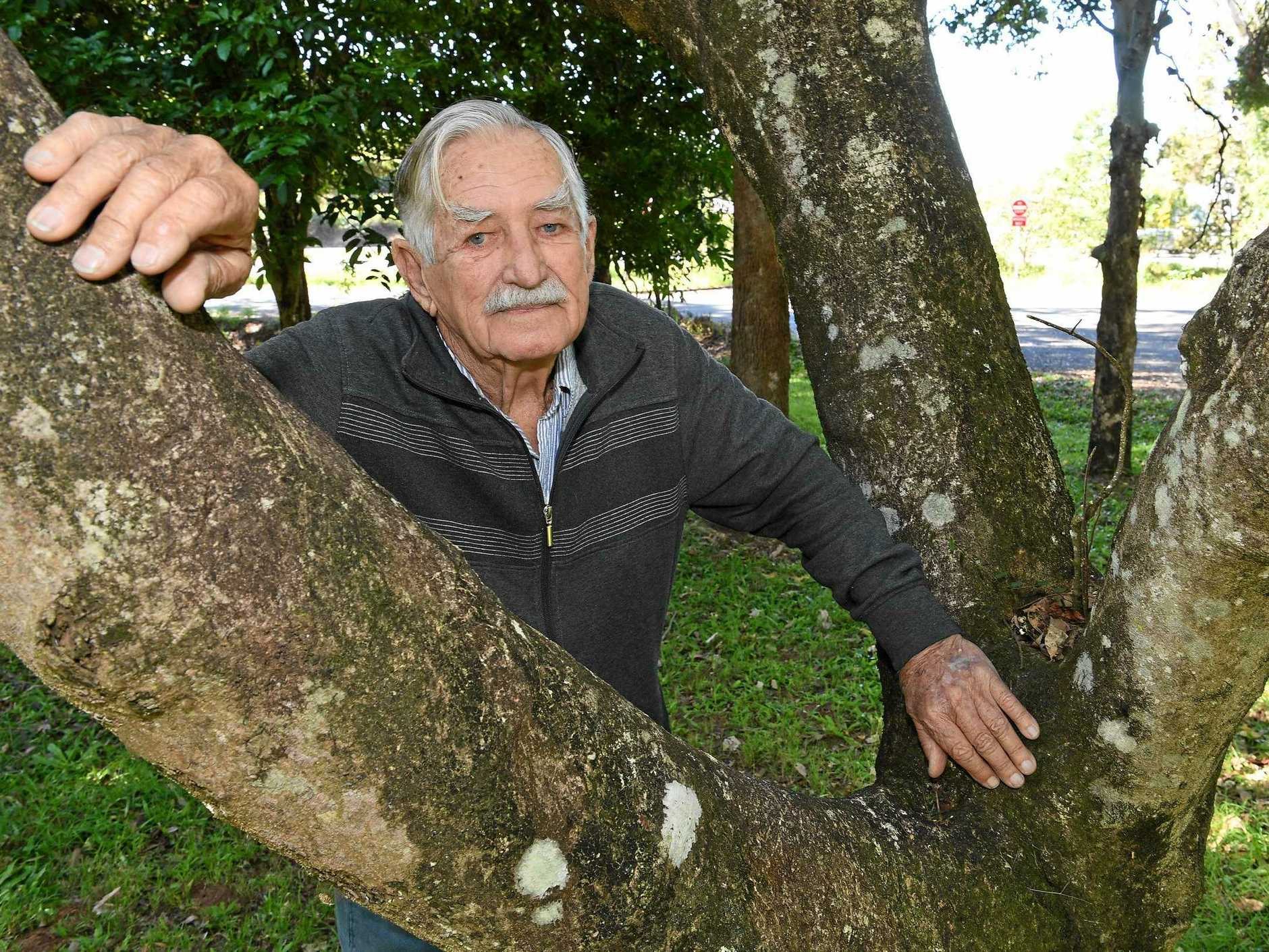 NOT HAPPY: Douglas Corbett is angry part of his property is being resumed for the Bruce Highway upgrades.