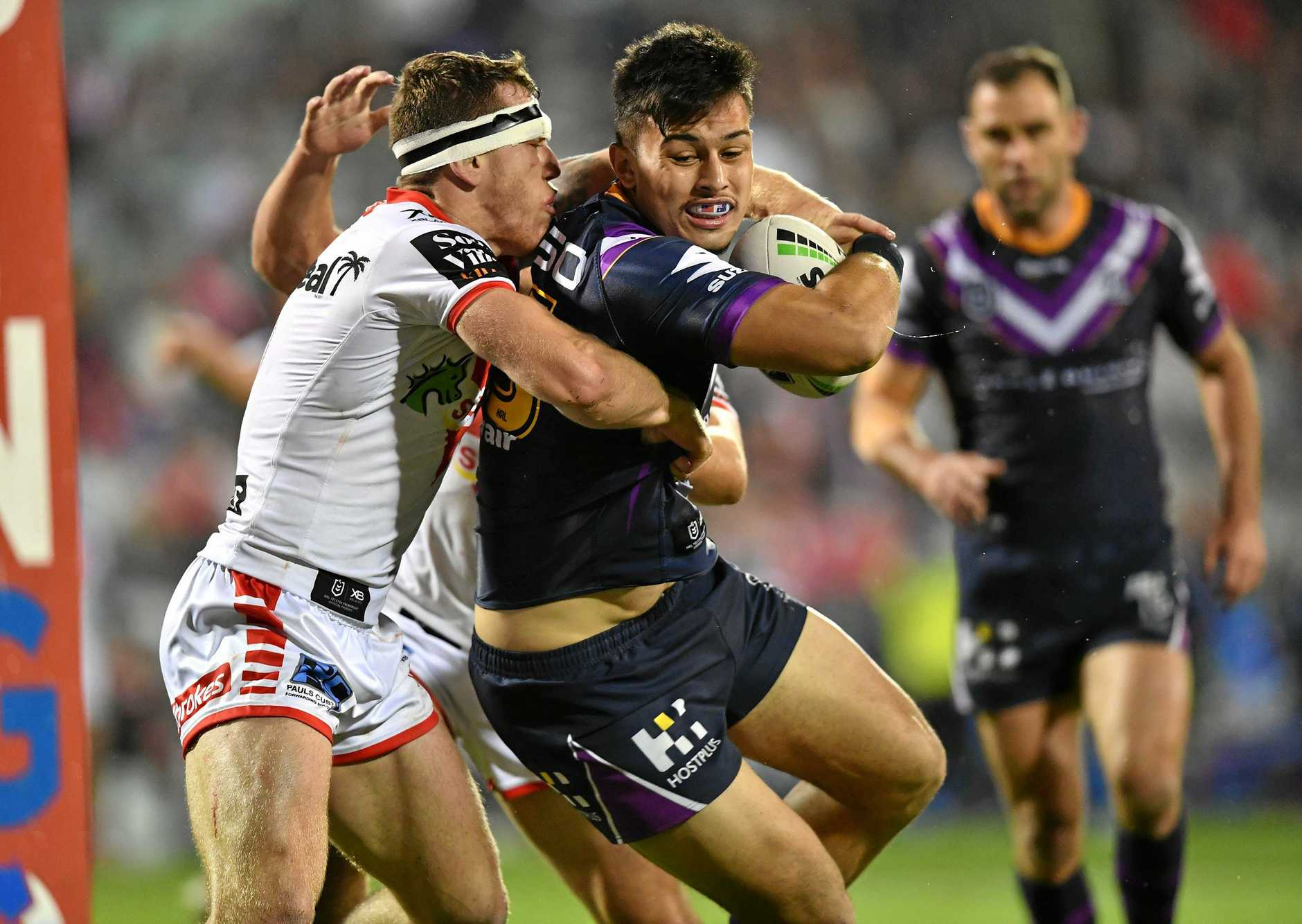Tino Fa'Asuamaleaui. 2019 NRL Round 16 - St. George Illawarra Dragons v Melbourne Storm, WIN Stadium, 2019-07-04. Digital image by Robb Cox  NRL Photos