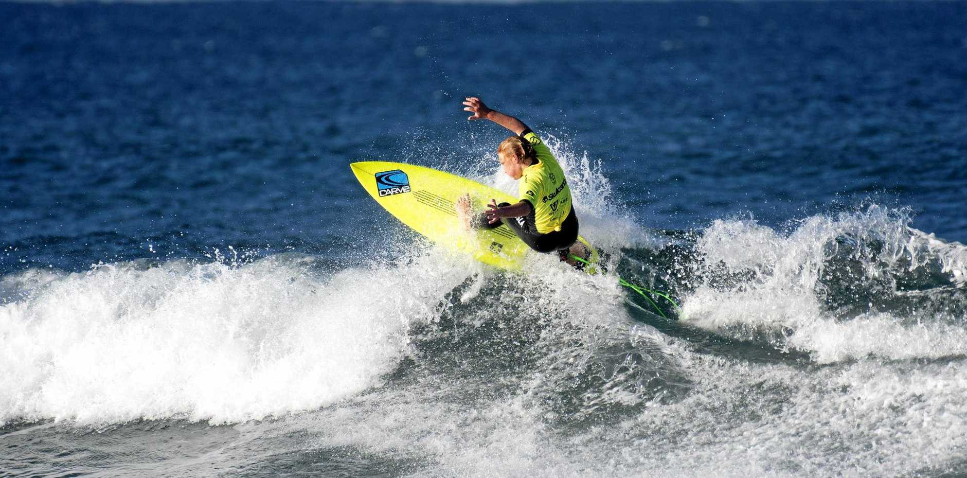 Lennox Head surfer Harry O'Brien competing at the Skullcandy Oz Grom Open.