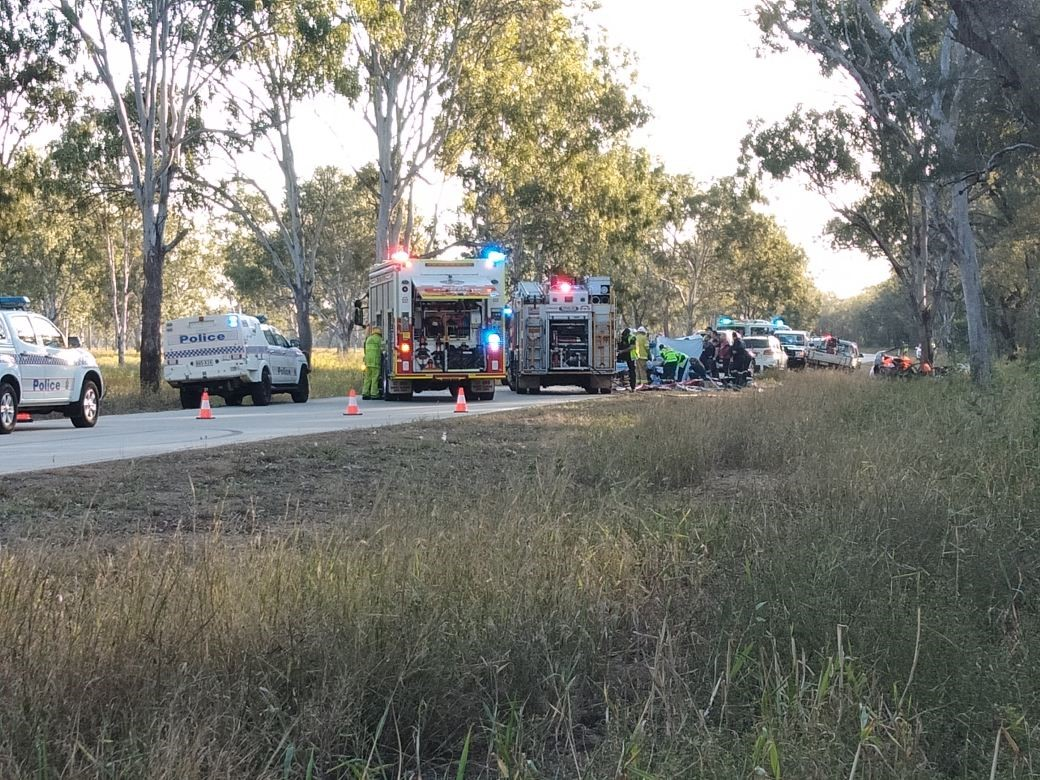 A 16-year-old male has died after the car he was a passenger in collided with a tree on Malchi Nine Mile Road on Monday afternoon. Two others were taken to hospital. The 19-year-old male driver was airlifted in a critical condition. PHOTO: WIN NEWS Central Queensland
