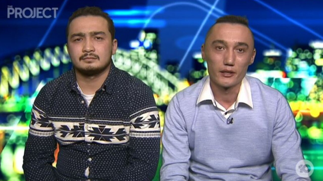 Sadam Abudusalamu (right) appeared on The Project with Almas Nizamidin (left), whose wife is also being imprisoned.