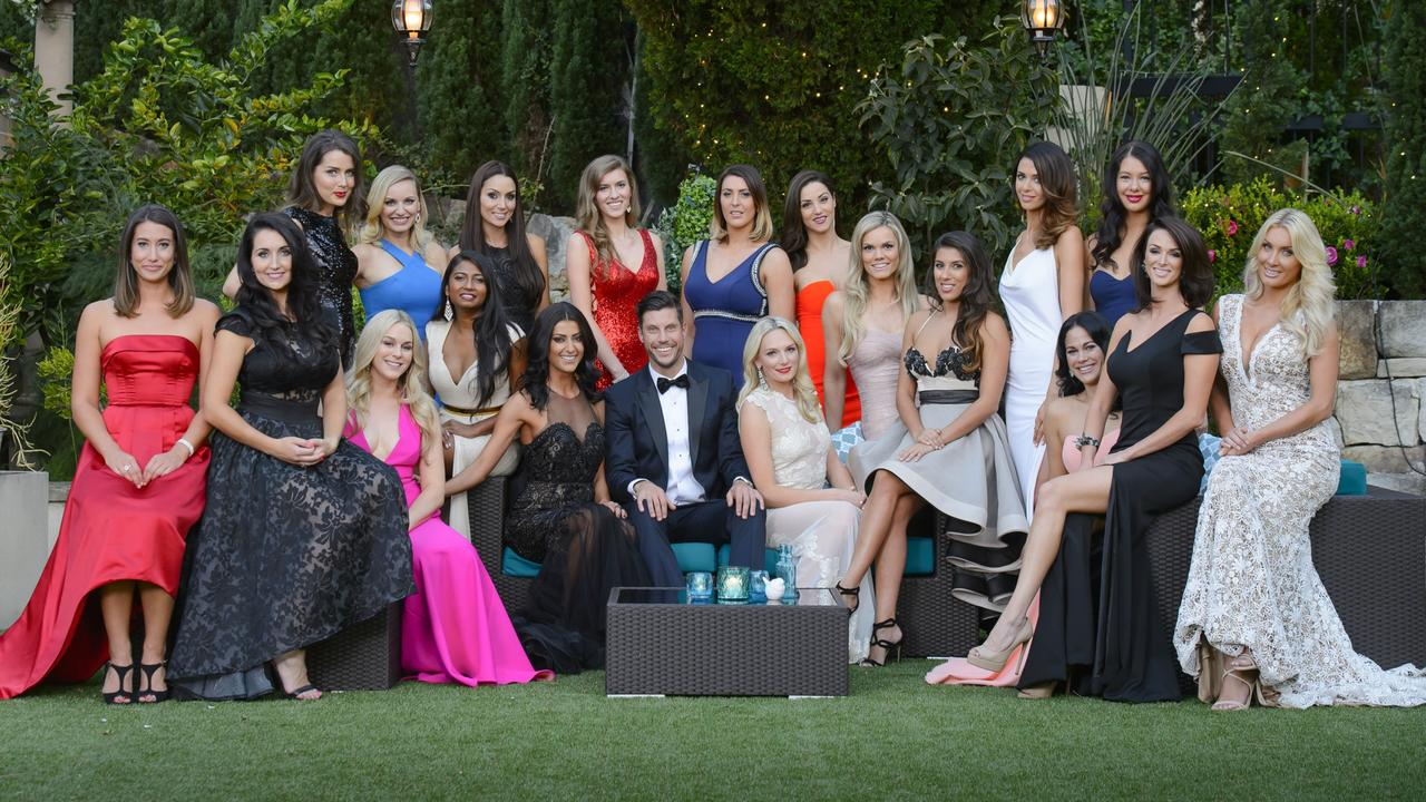 Bachelor Sam Wood's group of bachelorettes. Picture: Supplied by Channel 10.