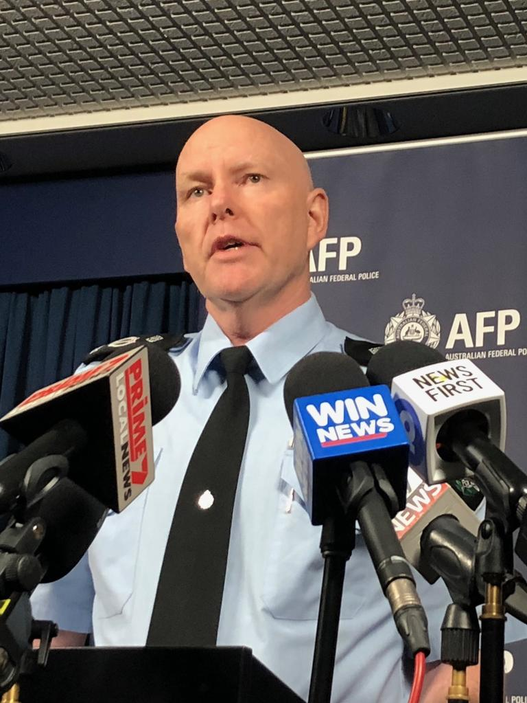 ACT Policing chief officer Ray Johnson at Monday's press conference.