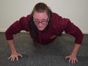 Trish Little completing The Push Up Challenge