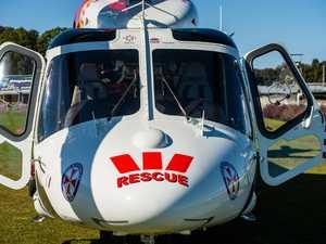UPDATE: Injured man transported via helicopter