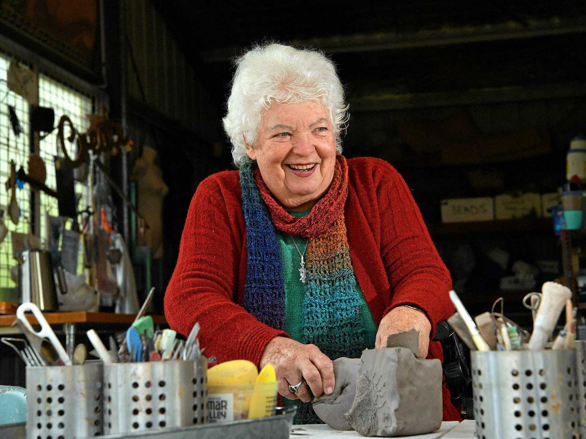 INSPIRATION: Little Mountain resident Carole Parsons still tries her best with pottery, despite having Parkinson's disease.
