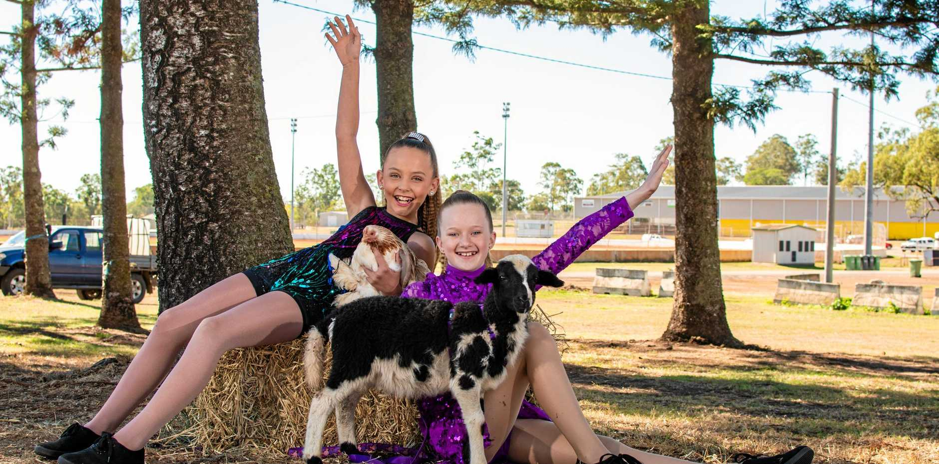WE ARE READY: Starlite dancers Makenna Wakley and Hayley Shearer.
