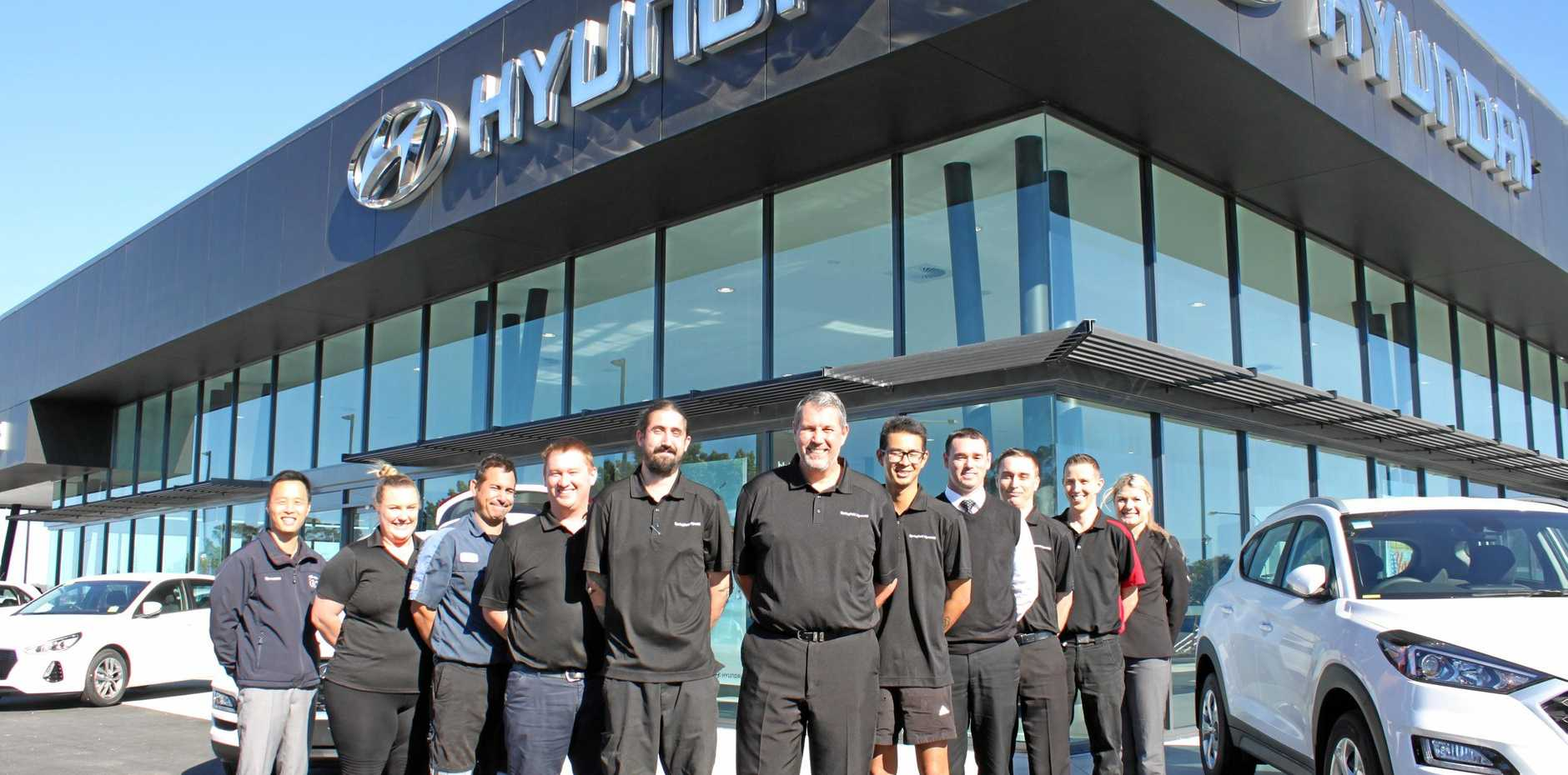 The team at Hyundai Springfield which has just opened the doors