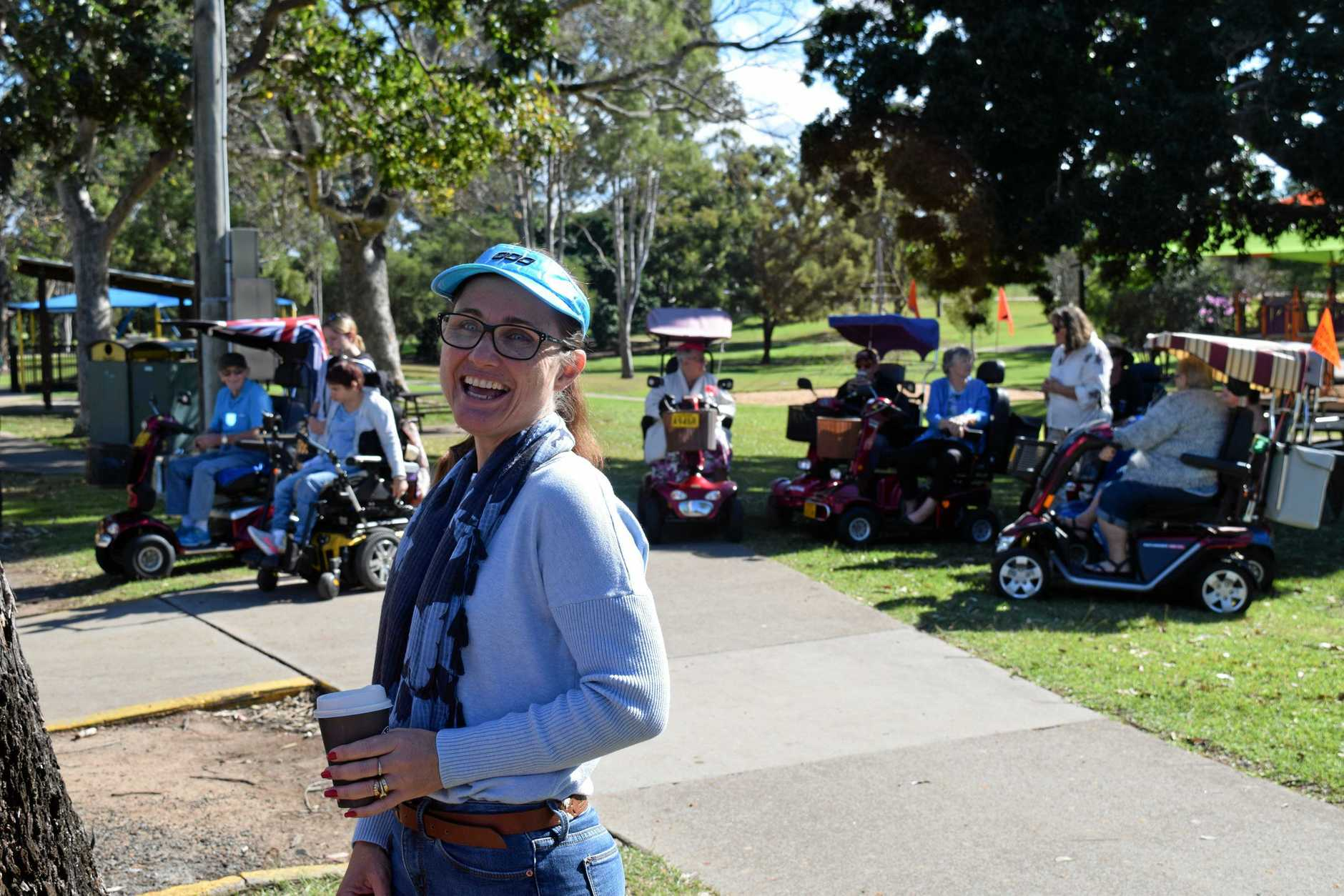 GET SET, GO!: Maryborough and District Committee On The Ageing's Kylie Nitz organises Maryborough's first Mobility Scooter Convoy at Anzac Park.