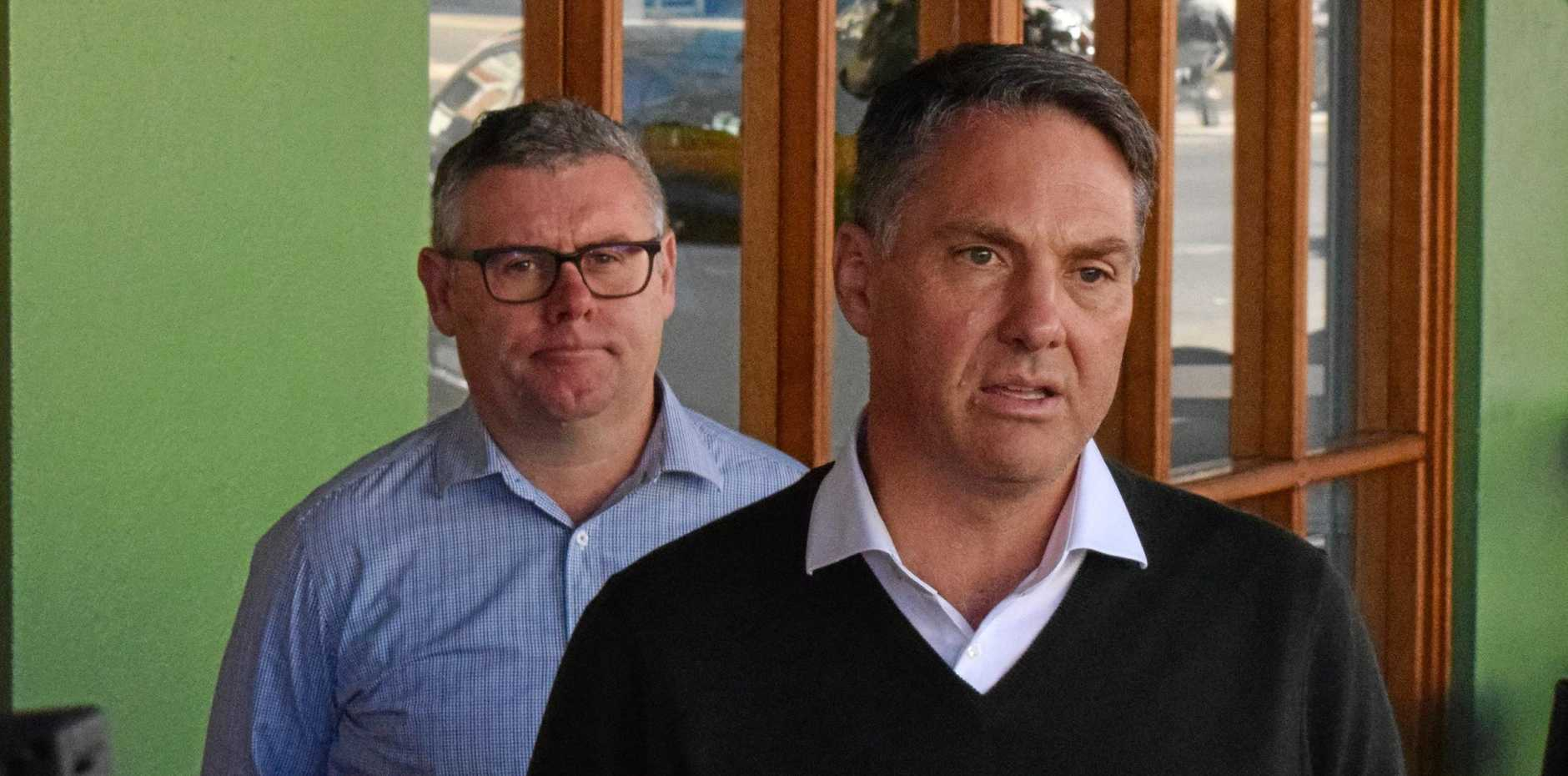 Labor deputy leader Richard Marles (right) and Shadow Minister for Northern Australia Murray Watt are touring CQ.