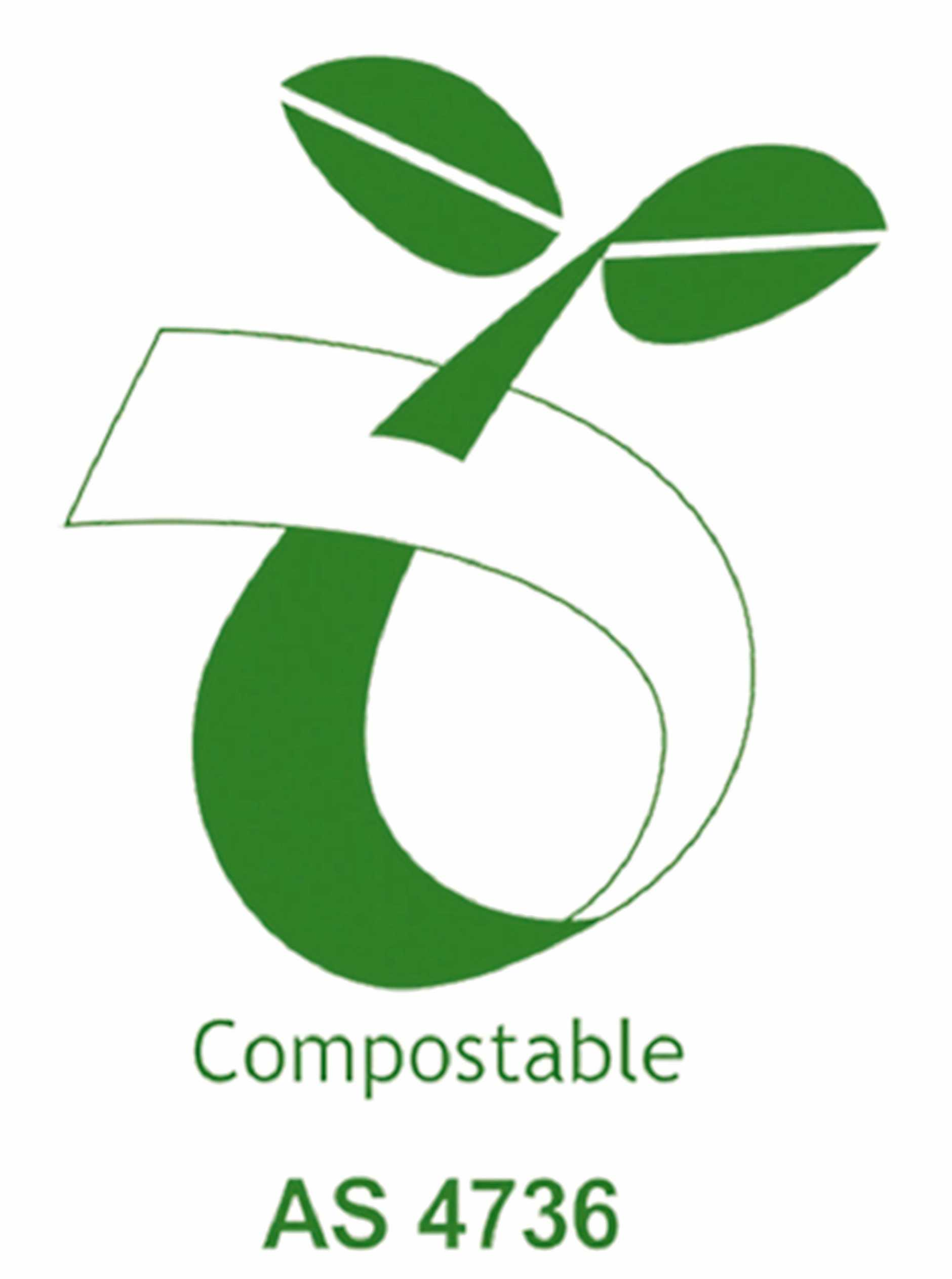 Only use bags with this compostable logo in your compost bin.