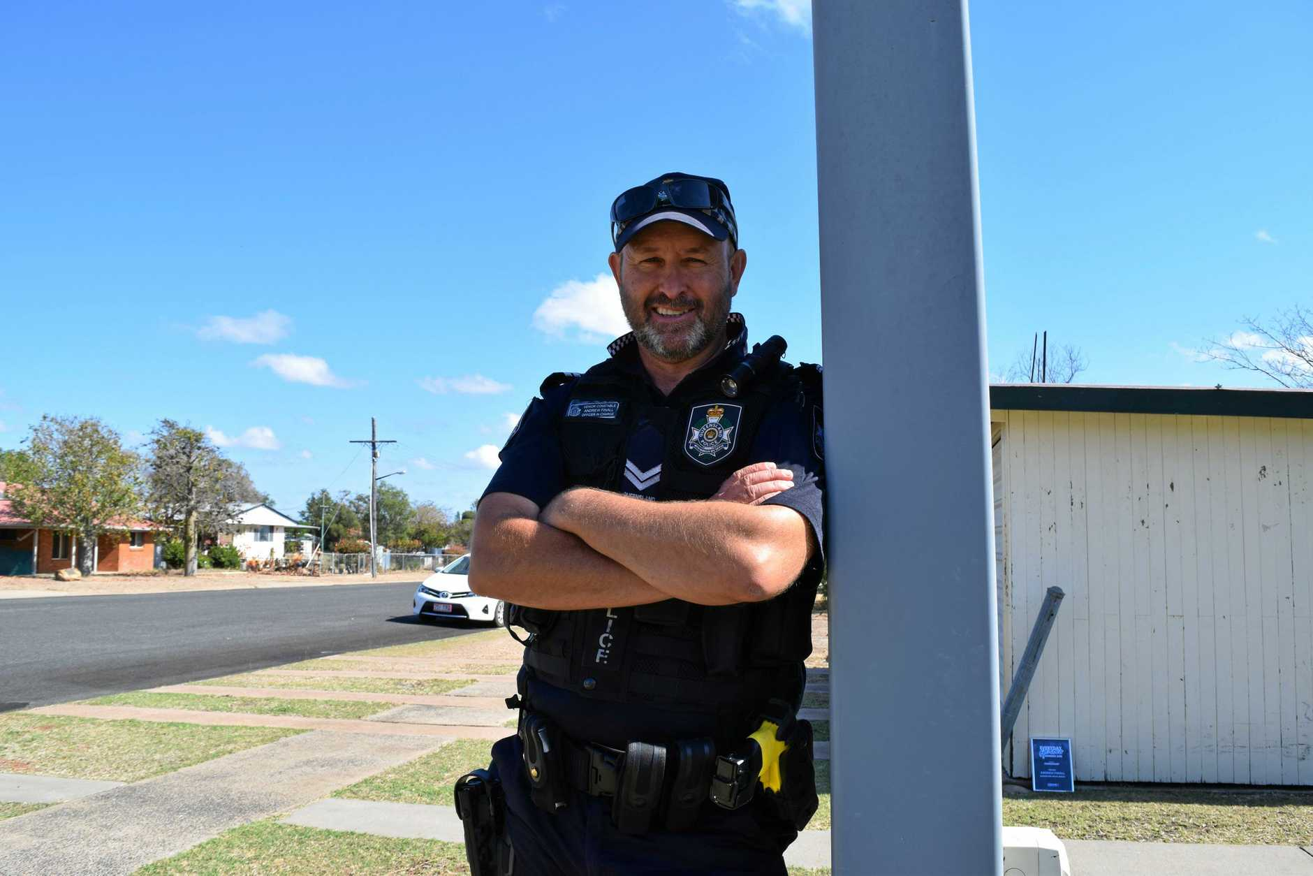 Officer in Charge of Capella Police Station, Snr Constable Andrew Finall was a finalist in the 2018 QBANK Everyday Heroes Awards.