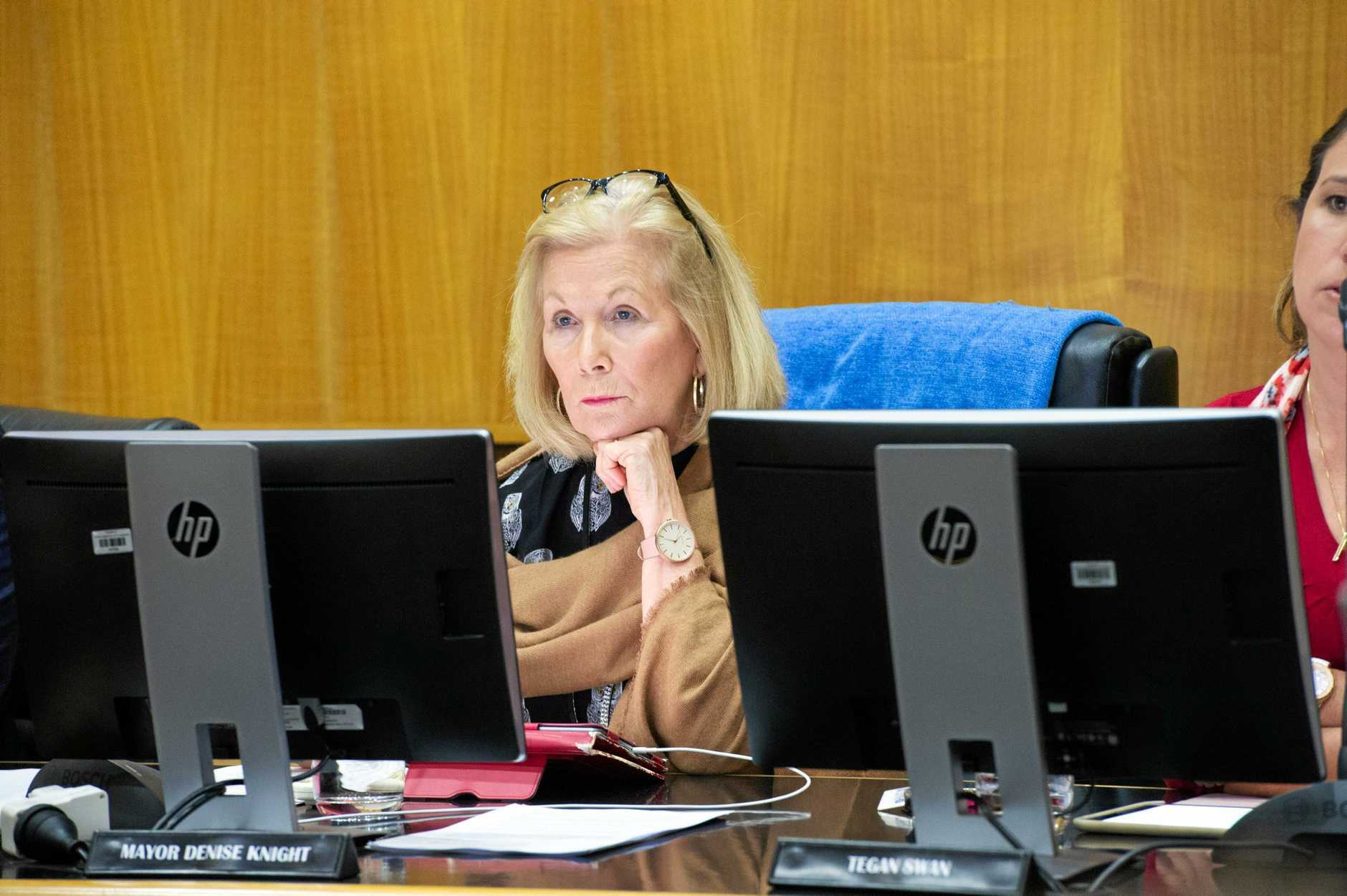 Coffs Harbour Mayor Denise Knight chairs last Thursday night's council meeting.