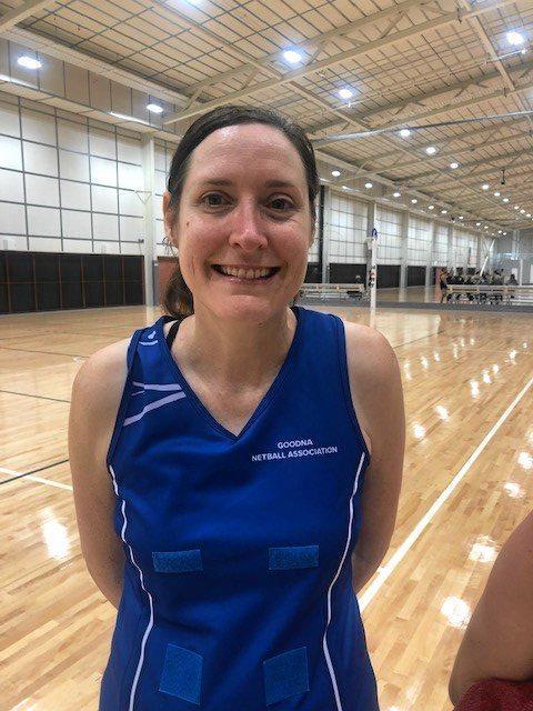 Goodna Sapphires netballer Chrissy Peever.