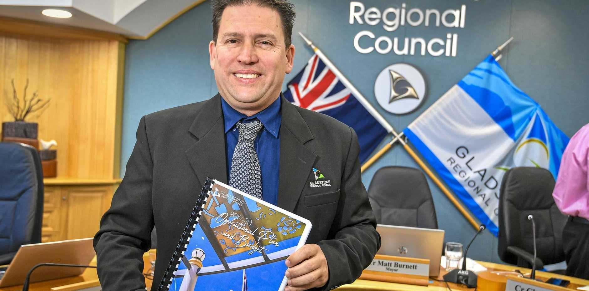 Gladstone Mayor Matt Burnett delivered the 2019-20 council budget at Gladstone Regional Council Chambers on 17 July 2019.