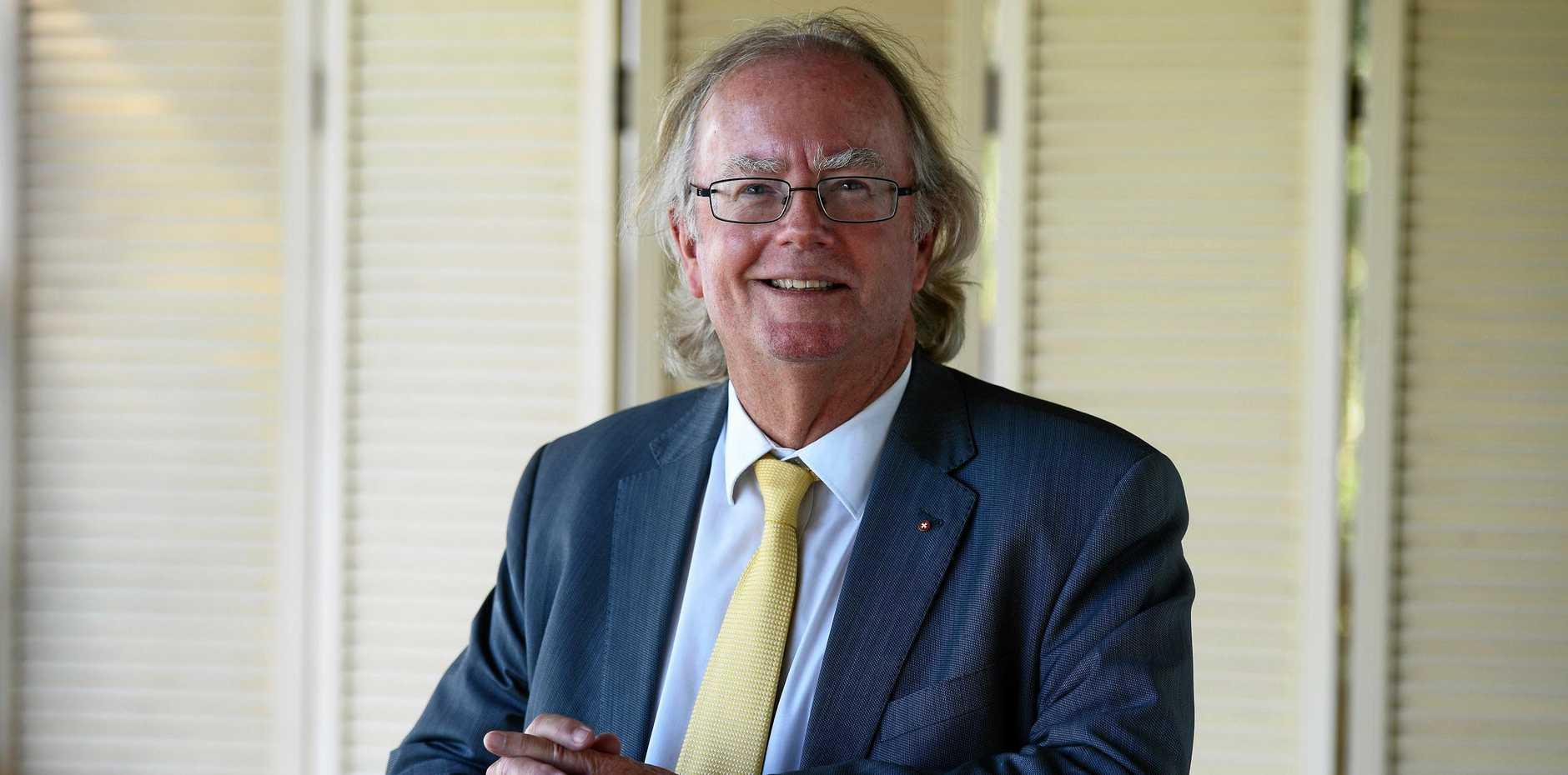 Clem Jones Group chairman David Muir at the Bundaberg parliamentary hearing.