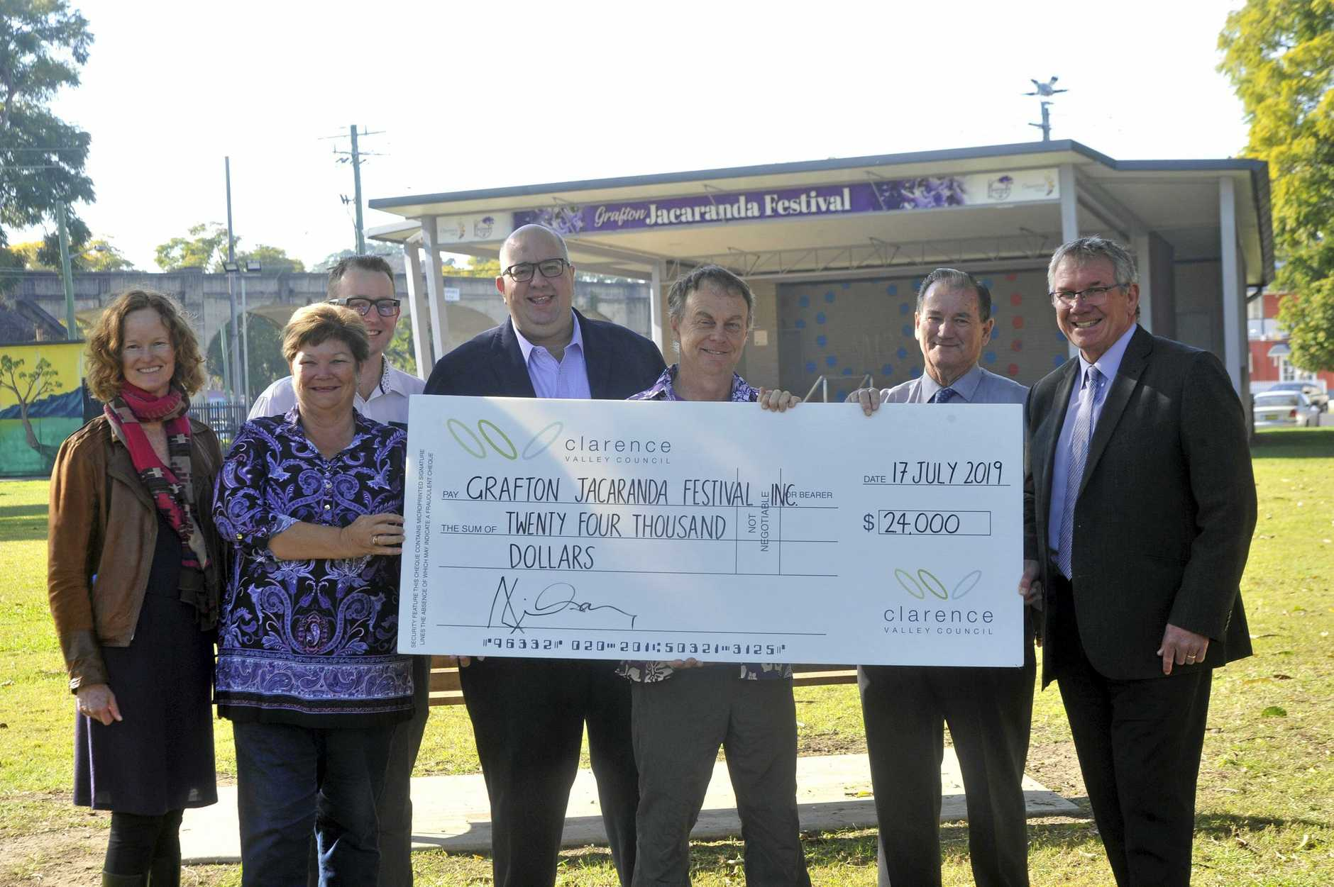 UPBEAT: The Jacaranda Festival team and Clarence Valley Council are confident this year's festival will draw big crowds.