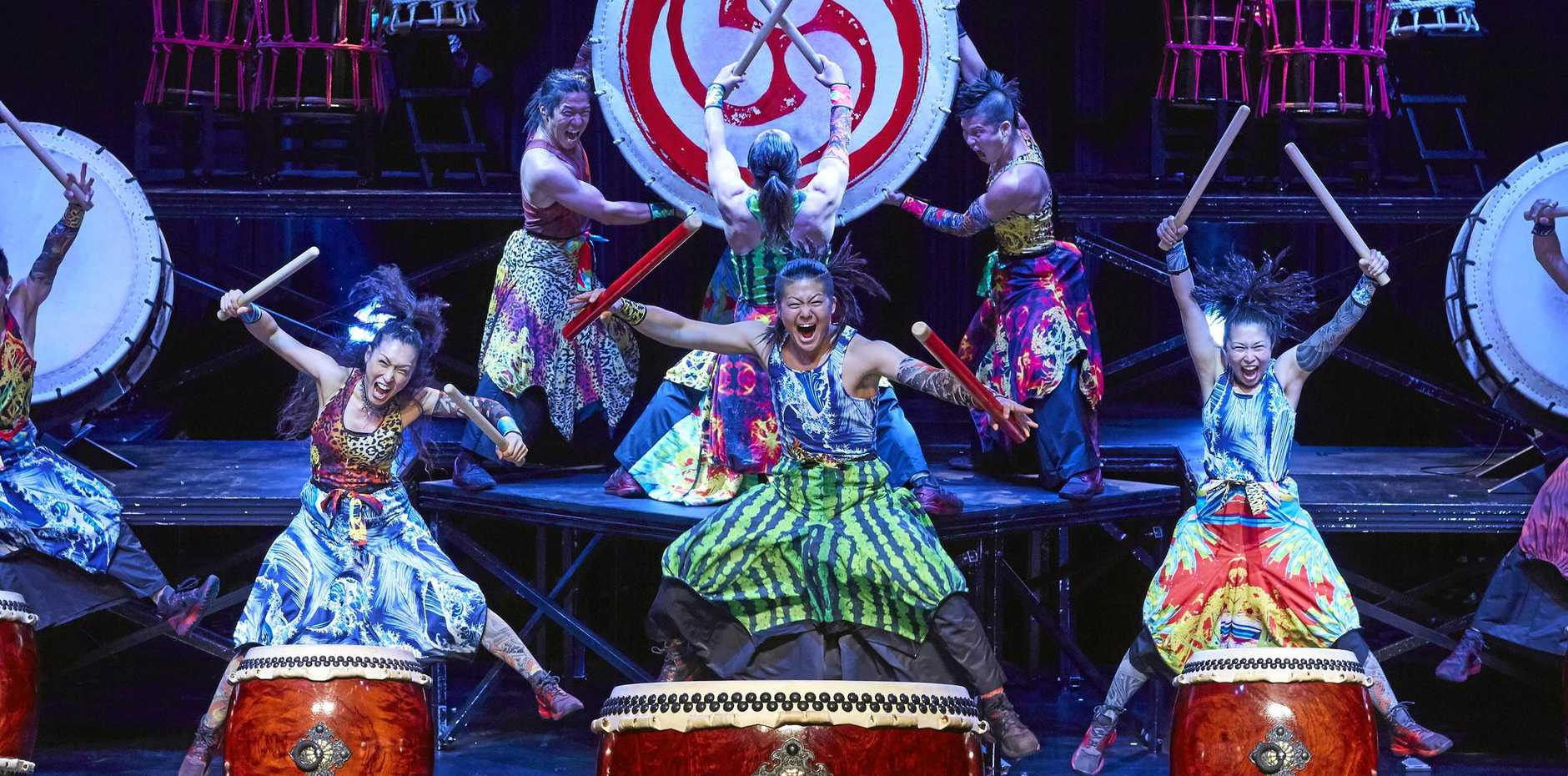 Japanese taiko drumming troupe Yamato brings Passion to the MECC stage on August 1.
