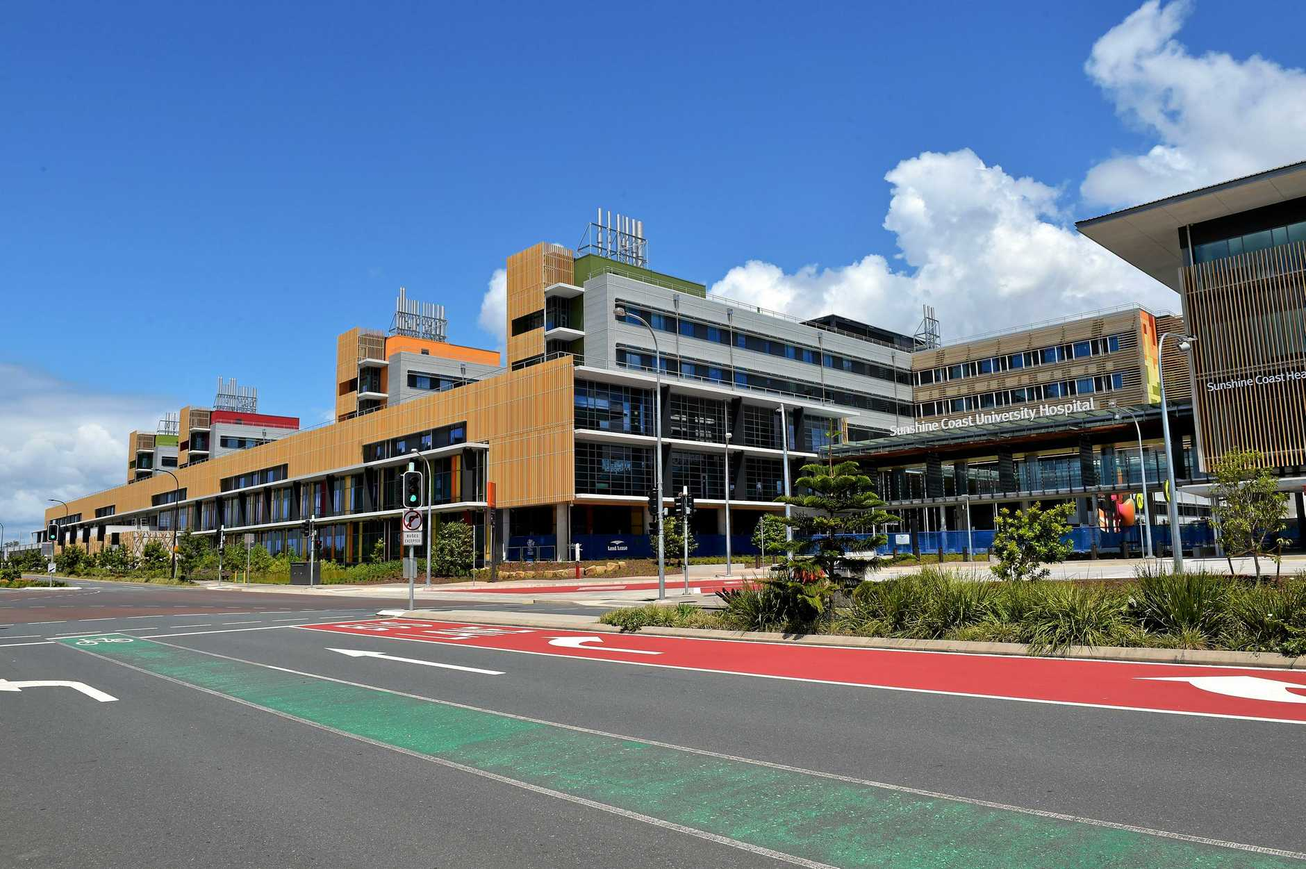 Health Minister Steven Miles has declared the Sunshine Coast University Hospital was on track for completion in 2021 despite only $2.74 million being allocated in the 2019-20 state budget.