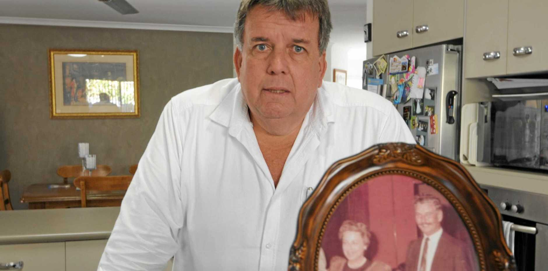 BRAVE CHOICE: Councillor, Greg Barnes said that his beloved Mum made the decision because she wanted to do what was best for her family -