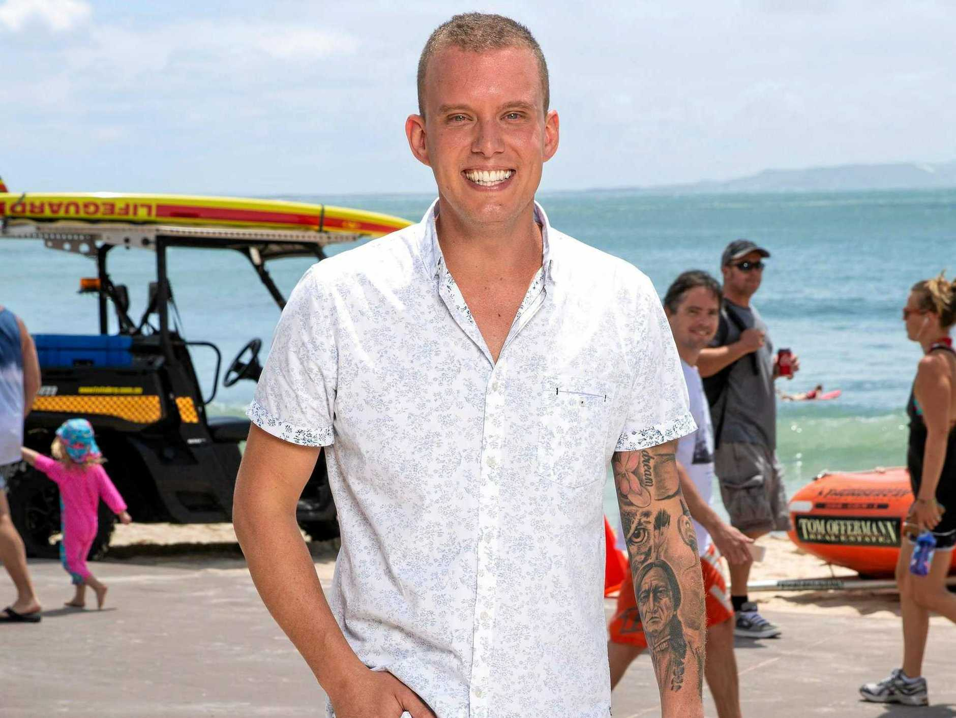 MasterChef mentor and local restaurateur Matt Sinclair at Noosa Beach, where an episode was filmed for the reality TV show's Queensland week. Supplied by Channel 10.