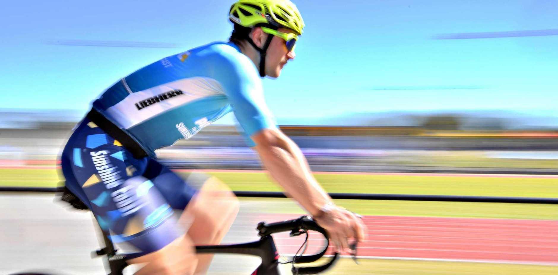 Pro Racing Sunshine Coast cyclist Leigh Howard at University of the Sunshine Coast.