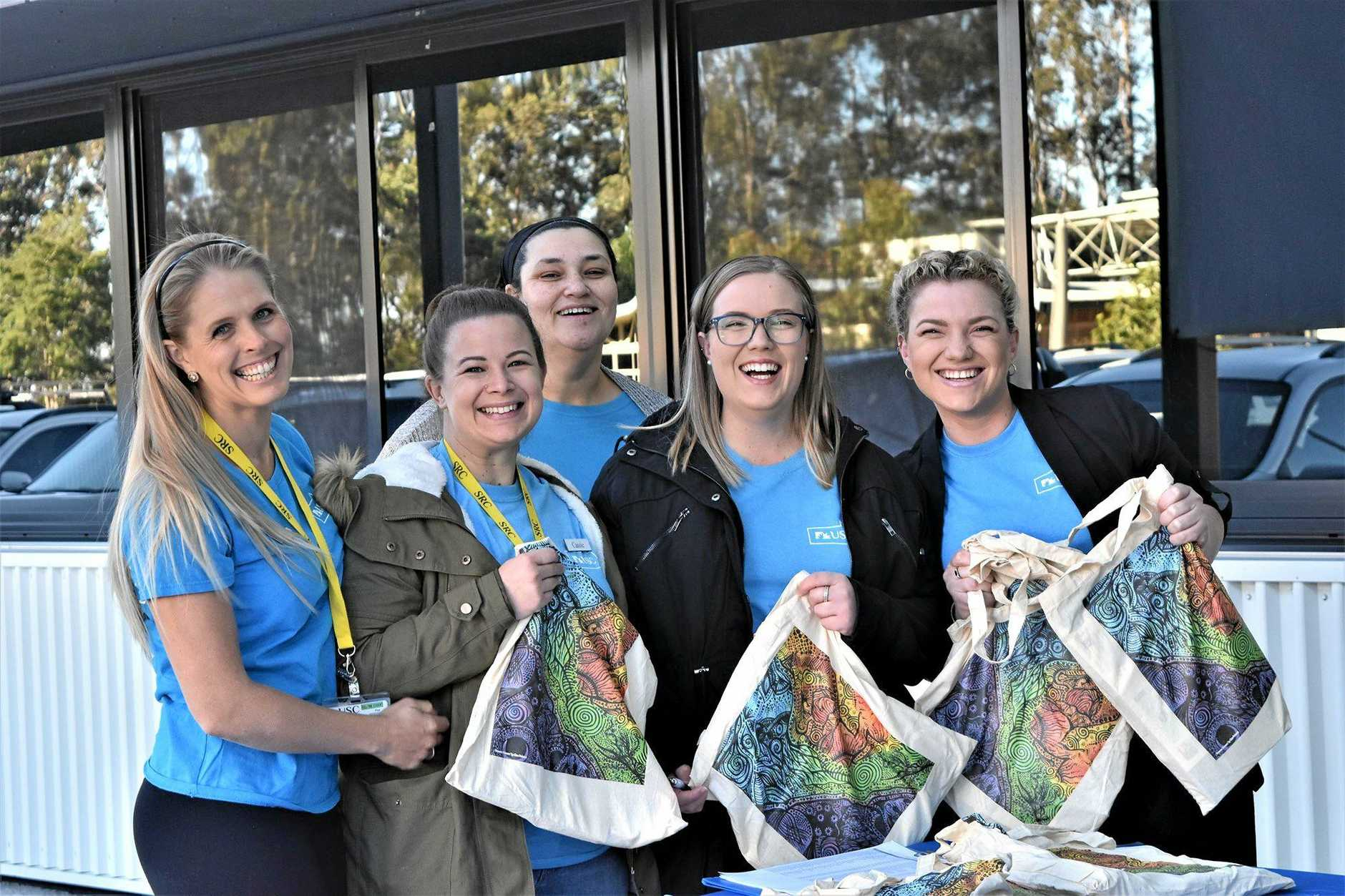 Volunteers help out at the Gympie USC campus open day