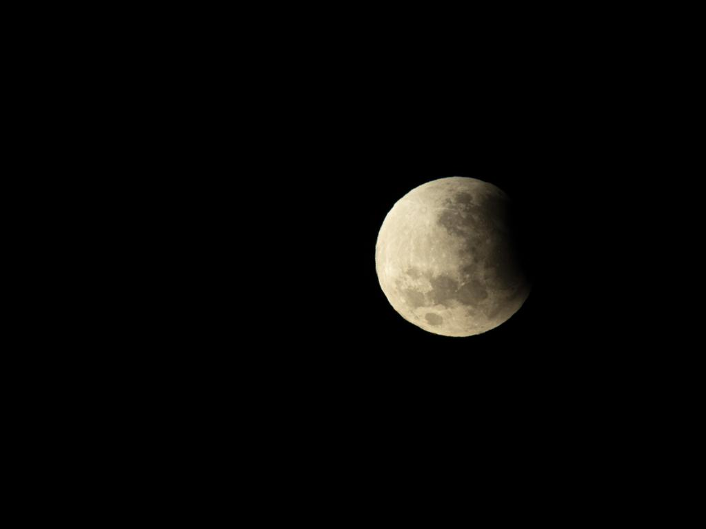 Another shot of the patrial lunar eclipse by Tweed photographer Zak Jones. Picture: Zak Jones