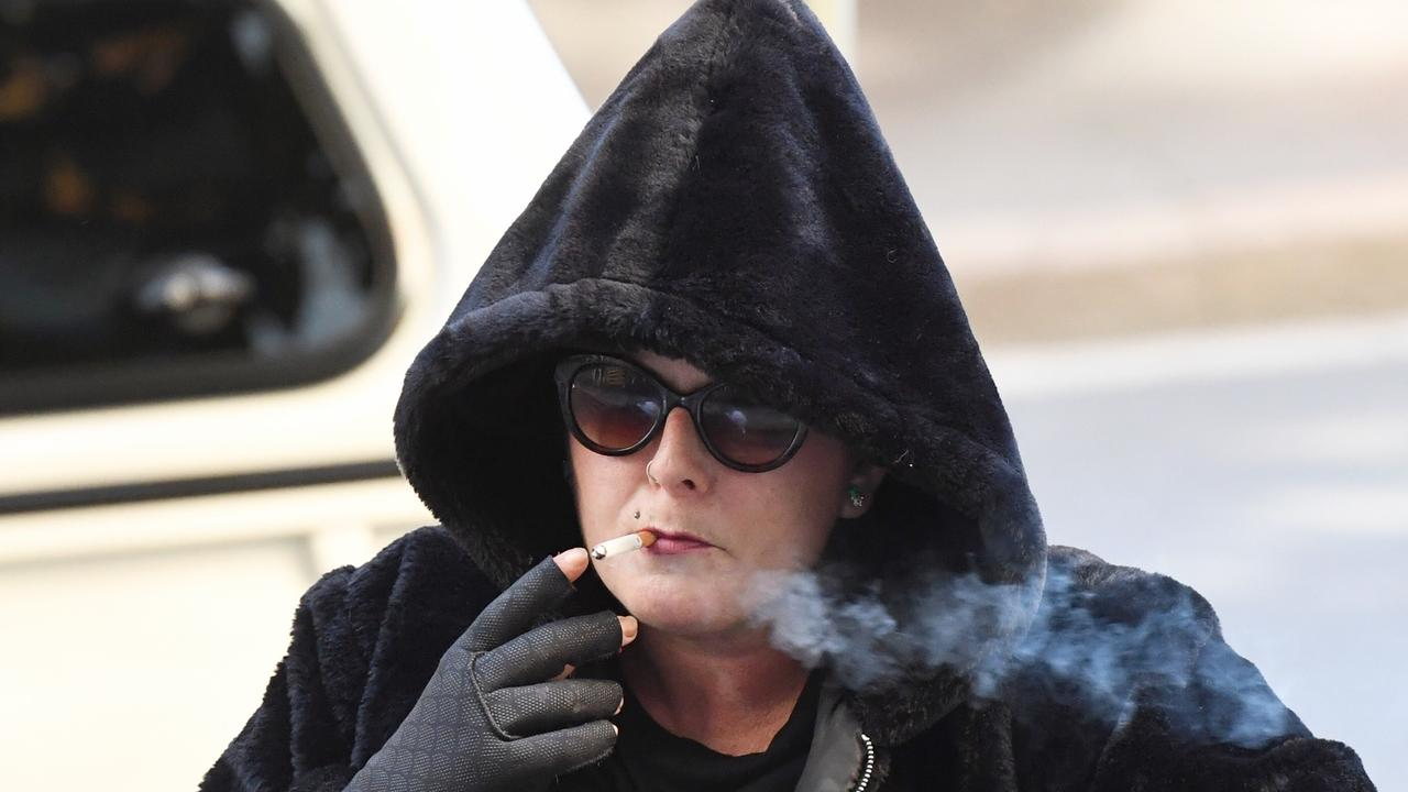 Alison Mains arrives at court in Sydney today. Picture: AAP