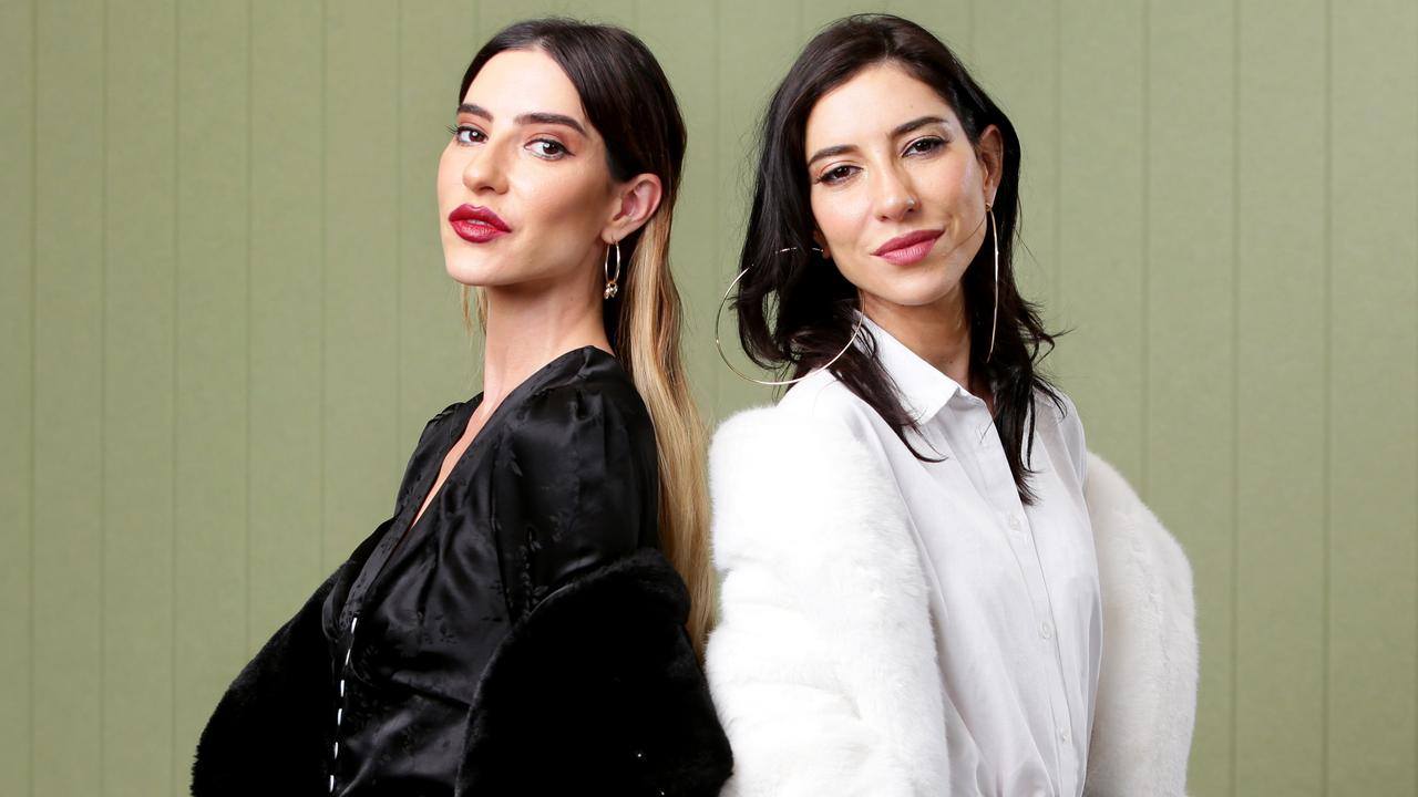 The Veronicas, Lisa and Jessica Origliasso, in Brisbane ahead of their performance at the official opening of SCA's Audio HQ. Picture: AAP Image/Steve Pohlner.