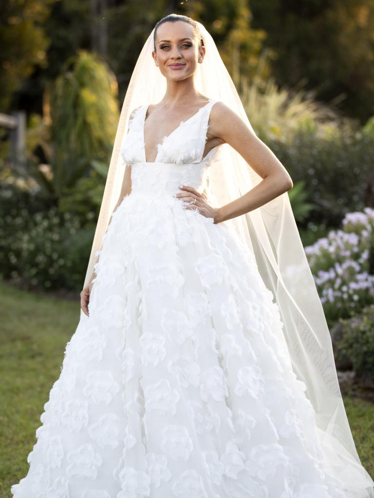 Ines Basic in her wedding gown on MAFS.