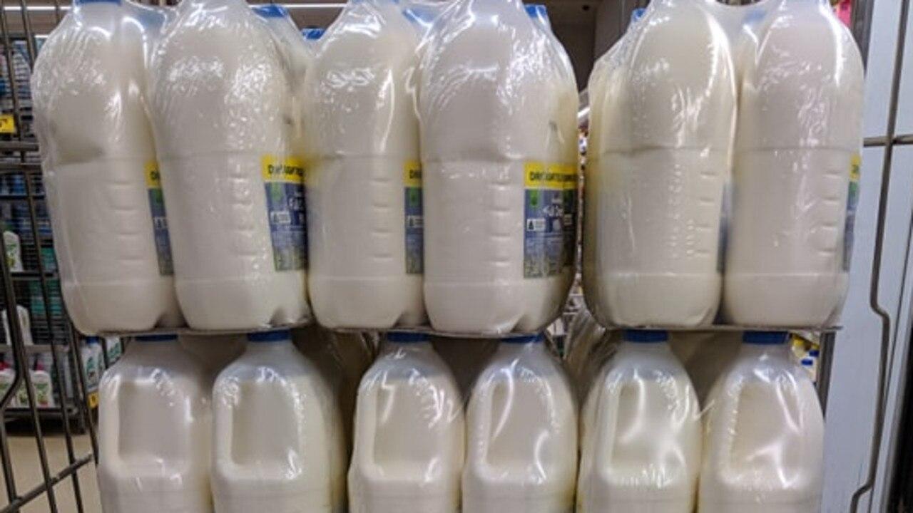 Heath Deering has slammed Woolworths for using shrink wrap plastic to wrap milk bottles. Picture: Heath Deering