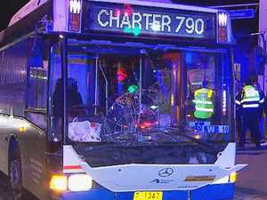 Woman fights for life after being hit by bus