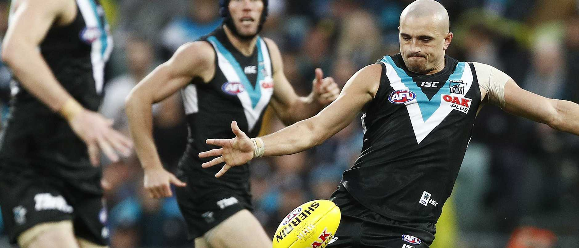 Port Adelaide's Sam Powell-Pepper is a target for rival AFL clubs.