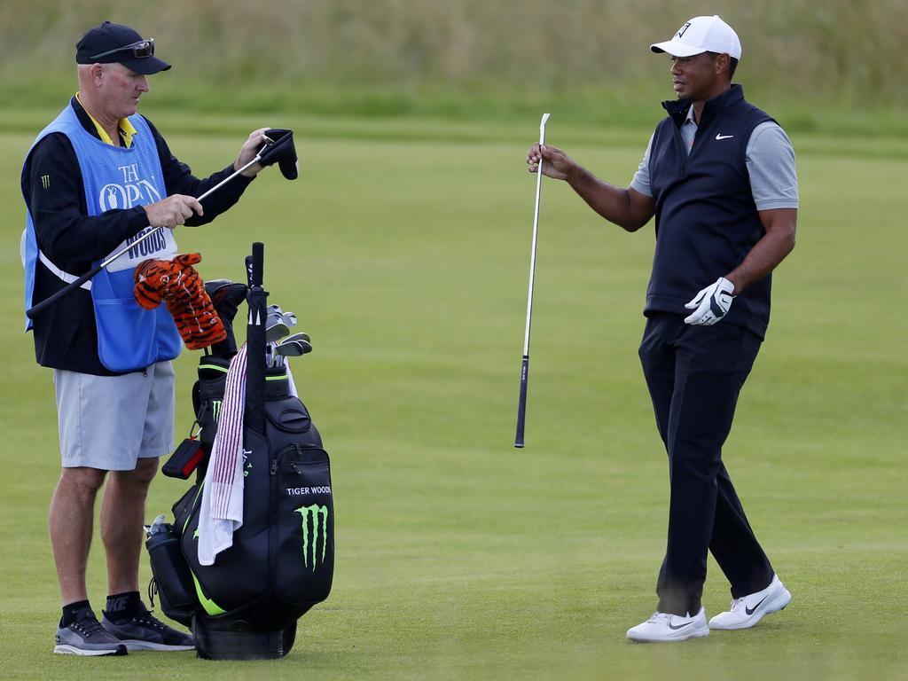 Tiger Woods on the Northern Ireland course.