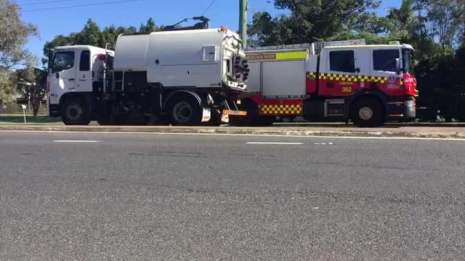 Truck drops 300 litres of oil, highway closed