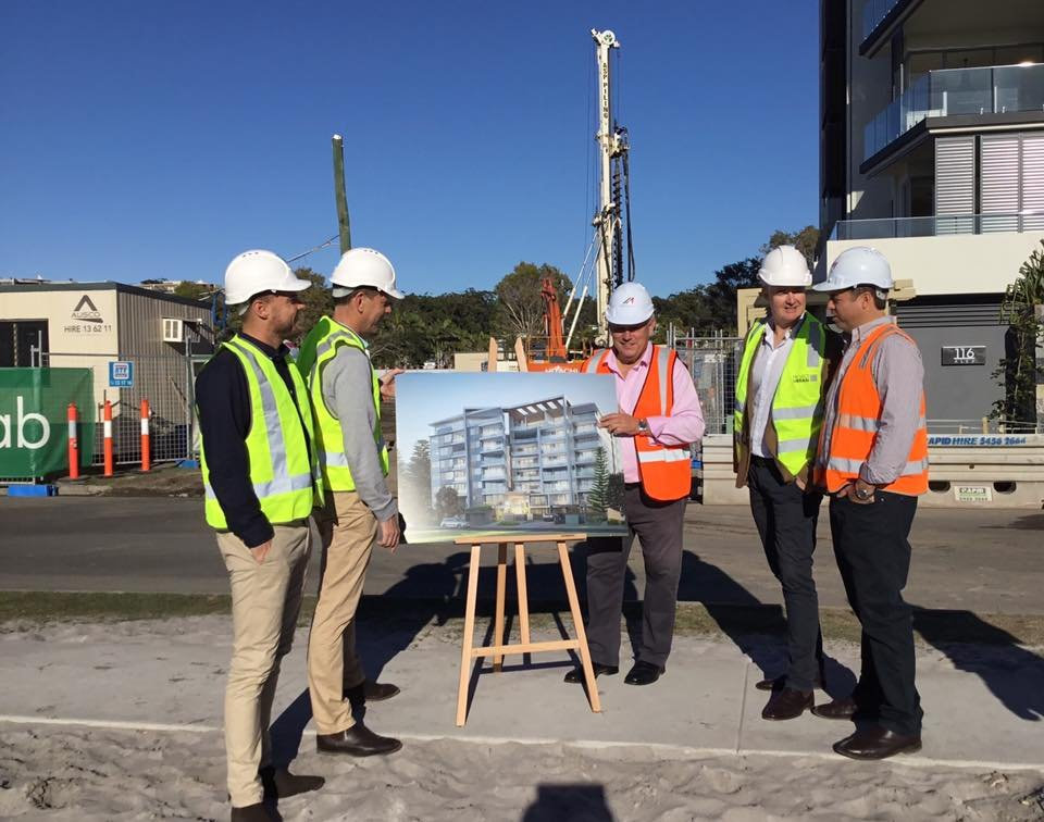 On site were Cube's Craig Morrison and Scott Juniper, Cr John Connolly, Andrew Stevens from Project Urban and Carl Nancarrow from McNab.