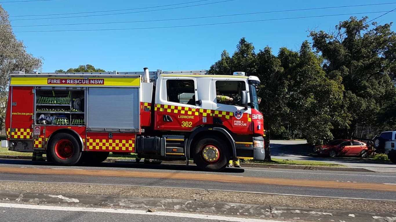 Emergency service crews are cleaning up after an oil spill at South Lismore.