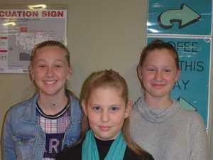 Ella Clarke, Jaimee Clarke and Ashless Clarke at the