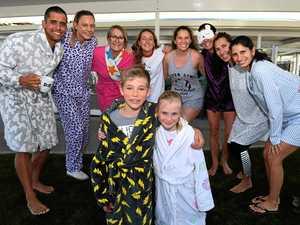 Swim school swaps bathers for pyjamas