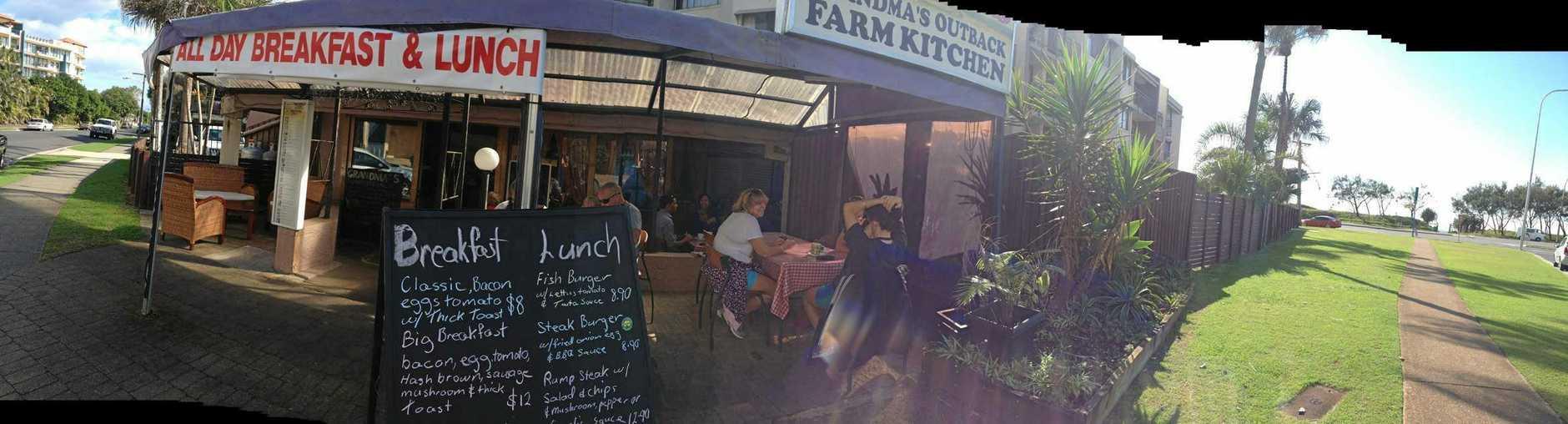 Grandma's Outback Farm Kitchen was on Maroubra St, Alexandra Headland