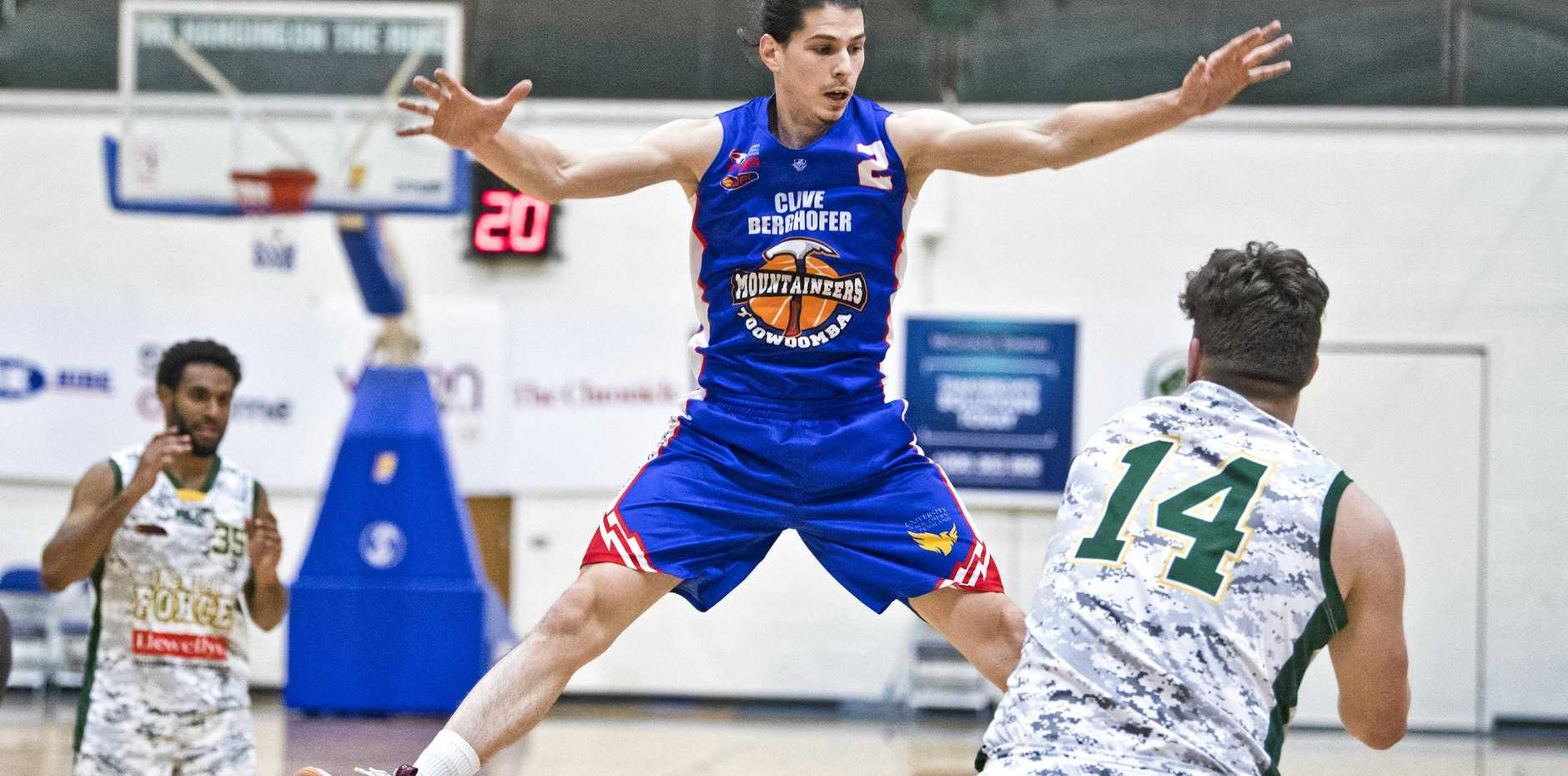 WHATEVER IT TAKES: Toowoomba Mountaineers guard Ranko Puseljic is one of six rookies in the side. Coach Danny Breen expects the young core to take a lot out of the season.