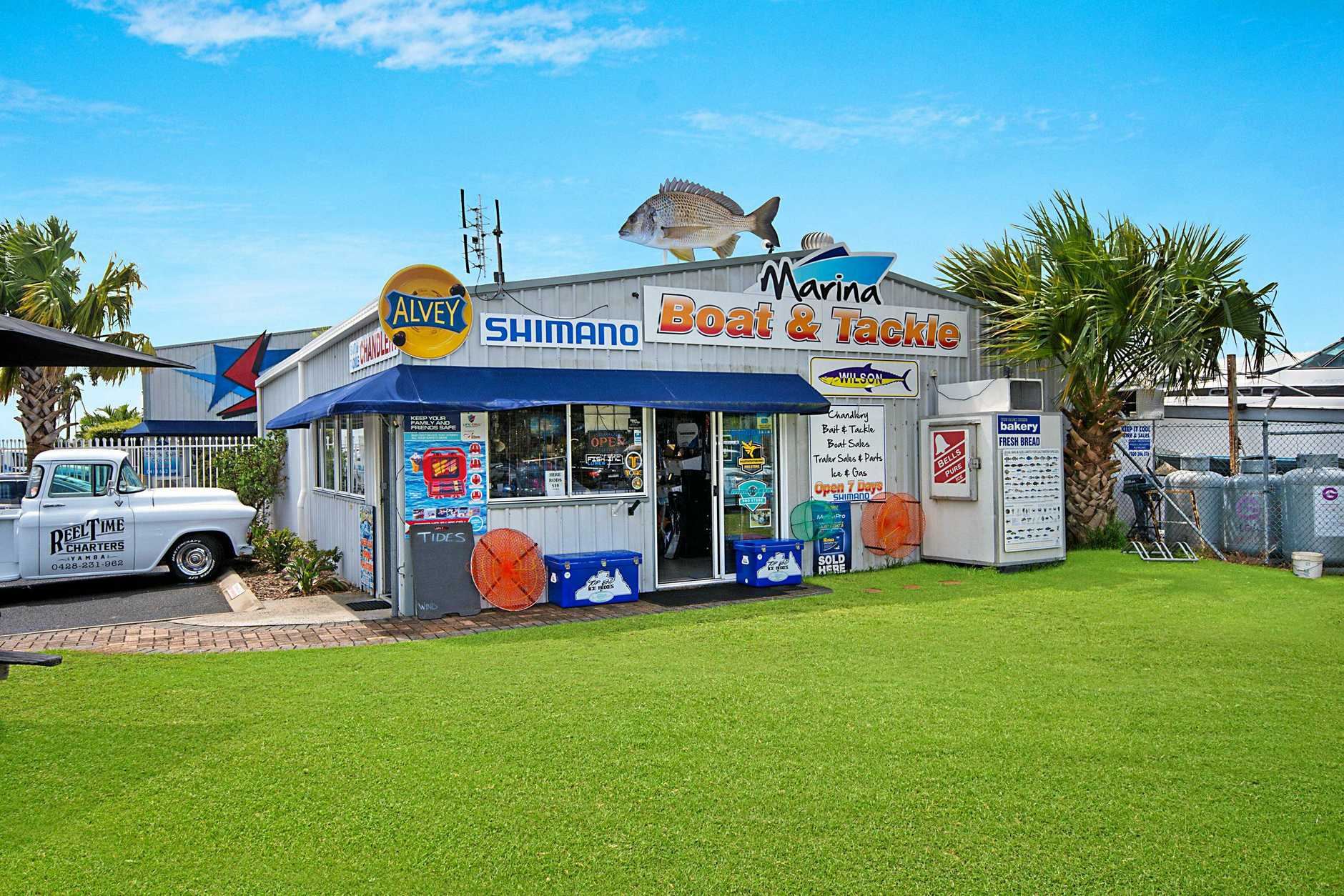 OPPORTUNITY KNOCKS: Marina Boat & Tackle, Yamba BBQ Boat Hire, Yamba Whale Watch and Reel Time Charters are all up for sale .