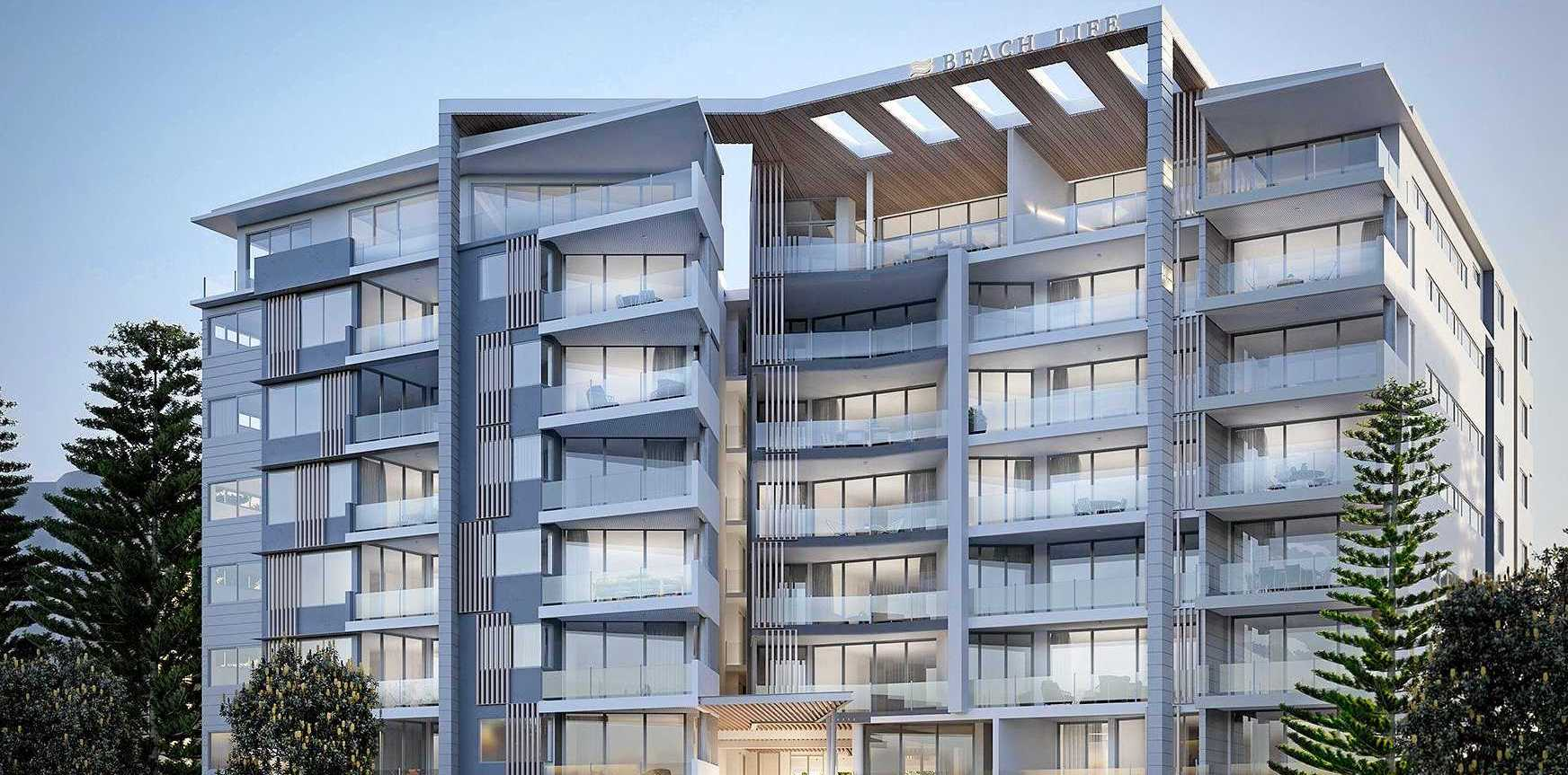 Artist's impression of a new 57-unit apartment block at Alexandra Headland.