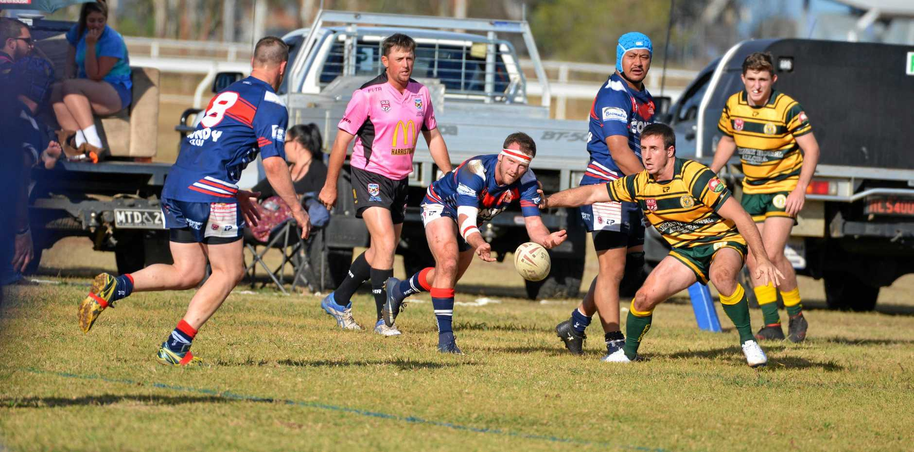 STANDING OUT: Hooker Ben Sullivan in possession for Warwick against Wattles in the TRL.