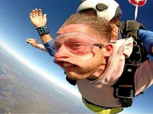 SKYDIVE: Bucket list moment captured with hilarious photo